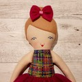 Tiffany - Handmade rag doll, ready to ship