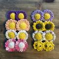 Sun Crocheted Earrings