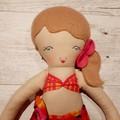Taylor - Handmade beach doll, ready to ship