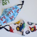 Child Washable  face mask  Reversible  Face cover  3 ply Thing 1 & Thing 2 Car