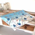 Splendid Blue Wren Tea Towel, Australian Bird Tea Towel, Tea Towels