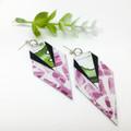 Botanical watercolour print canvas earrings