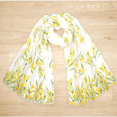 Native Australian Golden Wattle Scarf, Australian Flora Scarf, Scarves