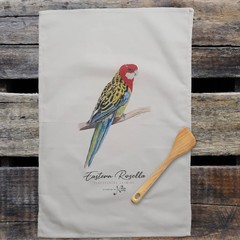 100% Cotton Tea Towel - Eastern Rosella