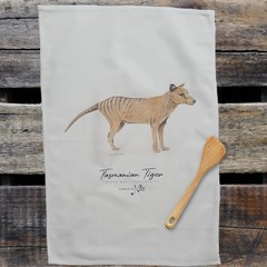 100% Cotton Tea Towel - Tasmanian Tiger