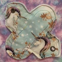 "Rainbow unicorns cloth pad liner 6"" (15cm)"