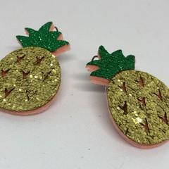 Glitter pineapple earrings