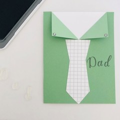 Fathers Day card - Green