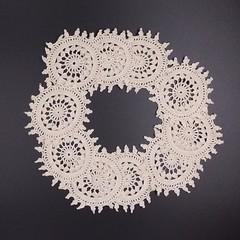 Vintage Doilies Ivory Ecru Cotton Applique Lace Embellishments Scraps Crochet