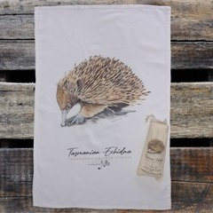 100% Cotton Tea Towel - Tasmanian Echidna