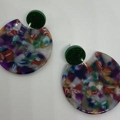 Acrylic mixed color earrings