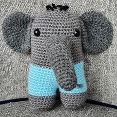 """Dumbo"" the cute crochet Elephant"