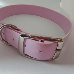 Light pink PVC dog collars medium / large