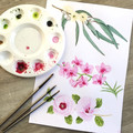 Australian Native Floral Emblems Scarf, Australian Flora Scarf, Scarves