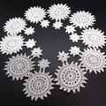 Vintage White Doily Cotton Applique Lace Embellishments Scraps Crochet Flowers