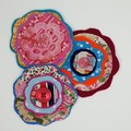 Funky Fabric Felt Flower embellishment accents handmade