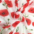 Red Poppy Flower Scarf, Australian Remembrance Scarf, Scarves