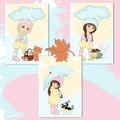 Autumn Girls Printables