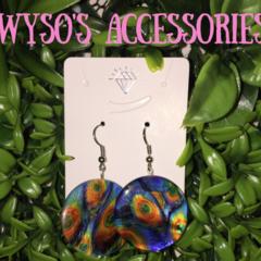Peacock Hook Earrings