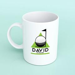 Golf Mug, Fathers Day mug, golf, golf gift, dad golf, personalised mug