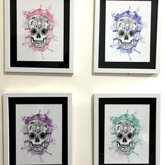 Framed Sugar Skull Chilli Print