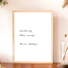Printable Wall Art | Henri Matisse Quote | Creativity Takes Courage