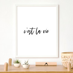 Printable Wall Art | Cést La Vie