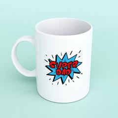 Super Dad mug, Father's day mug, mug for Dad, stepdad mug, cartoon dad mug