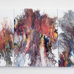 """""""Cleopatra"""" Triptych Trio Set 40 x 30cm each (11x16"""") Wall Art"""
