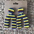 Custom u-shaped dangles - Polymer clay earrings