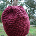 Pure wool beanie unisex teen adult