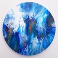 """Deep Blue Ocean"" 30x30cm (12x12in)"