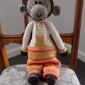 Milo the hand crocheted Monkey - unisex, washable, OOAK by CuddleCorner