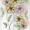 Pack of 3 cards - Flowers -  original Watercolour designs