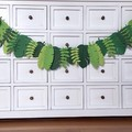 Green Tropical Leaf Party Banner. Jungle, Safari Birthday Party, Baby shower.