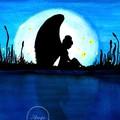 """Night Angel"" Watercolour Print"