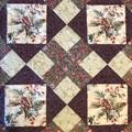FLORAL LATTICE handmade quilt