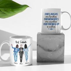 Best Friends Besties Sisters Personalised Ceramic Coffee Tea Mug Cup - CM050