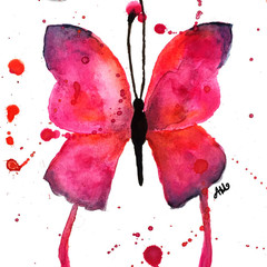 """Butterfly"" Watercolour Print"