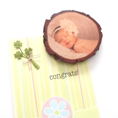 Personalised Wood Slice Photo Magnets