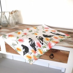 Magpies Tea Towel, Australian Bird Tea Towel, Tea Towels