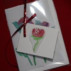 Pack of 3 cards - Flowers -  original Watercolour designs
