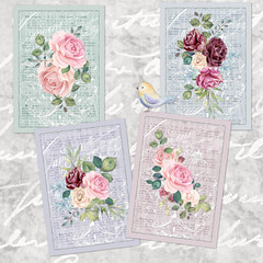 French Shabby Chic Lavender and Roses Printables