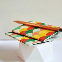 LAST Mid Pocket Notebooks {2} Blank Books Colourful Scallops | Pocket Journals