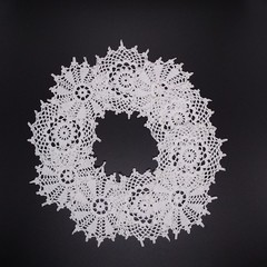 Vintage Doilies Antique Whit Cotton Applique Lace Embellishments Scraps Crochet