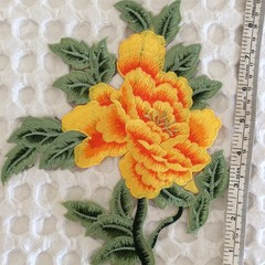 Large Yellow Flower Iron On Applique
