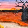 """Boab Waterhole""  Watercolour Print"