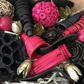 Mixed pink brown gold pods - Dried decoration - Pot Pourri - Gift Box - Natural