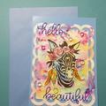 Boho Zebra card
