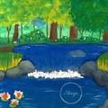 """Thinking Pond""  Watercolour Print"